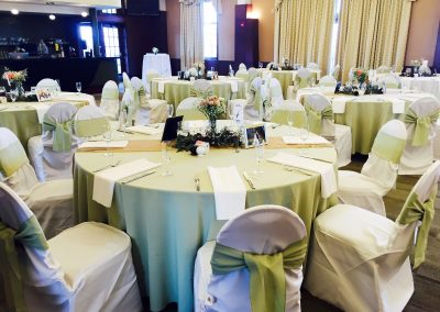 Green Wedding Reception Decor - J. Liu Restaurant and Bar - Dublin, Worthington, OH